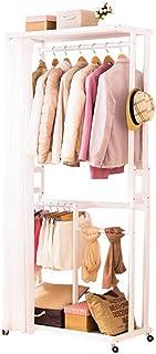 Caisses De Rangement Boîte De Rangement Porte-manteau, portemanteau en bois multifonctions, simple cintre sol en bois mass...