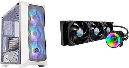 Cooler Master MasterBox TD500 Mesh White Airflow ATX Mid-Tower with MasterLiquid ML360 Mirror ARGB CPU Liquid Cooler