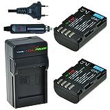 ChiliPower DMW-BLF19, DMW-BLF19E Kit: 2X Akku + Ladegerät für Panasonic Lumix DMC-GH3, DMC-GH4, DMC-GH5
