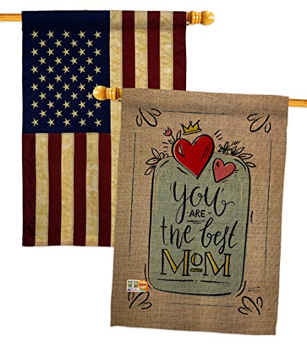 Angeleno Heritagethe Best Mom House Flag Pack Family Mother S Day Mama Grandma Love Flowers Parent Sibling Relatives Grandparent Usa Vintage Applique Banner Small Garden Yard Gift Double Sided Made In 28