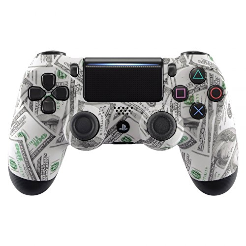 eXtremeRate Hydro Dipped Front Housing Shell Case, Faceplate Cover Replacement Kit for Playstation 4 PS4 Slim PS4 Pro CUH-ZCT2 JDM-040 JDM-050 JDM-055 Controller