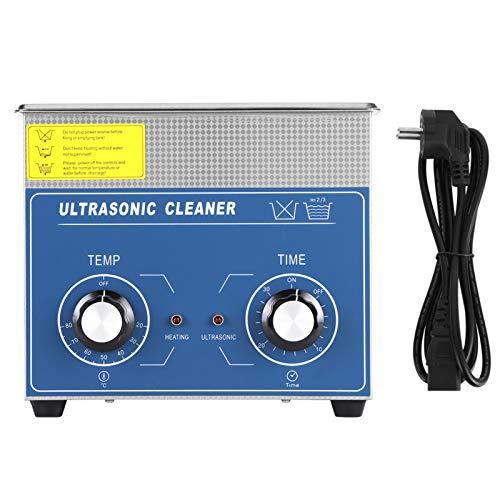 AYNEFY Dispositivo de limpieza por ultrasonidos, limpiador ultrasónico, 1 unidad, acero inoxidable, limpiador por ultrasonidos, limpieza con calefacción, depósito con cesta, 3 L