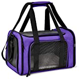 Henkelion Cat Carriers Dog Carrier Pet Carrier for Small Medium Cats Dogs Puppies up to 15 Lbs, Airline Approved Small Dog Carrier Soft Sided, Collapsible Waterproof Travel Puppy Carrier - Purple