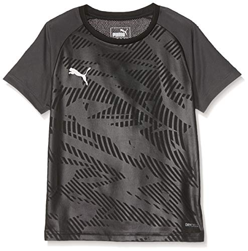PUMA Kinder CUP Training Jersey Core Jr Trikot, Black-Asphalt, 176