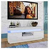Kuhxz High-Gloss LED TV Cabinet, LED TV Stand Cabinet, Wall Mount Television Stands Gaming Entertainment Center Modern Light Luxury Storage Cabinet for Living Room , TV Console Table Storage Cabinet