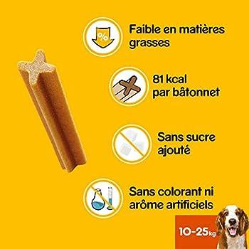Pedigree Black Friday Dentastix - Friandises pour moyen chien, 112 bâtonnets à mâcher pour l'hygiène bucco-dentaire (16 sachets de 7 Sticks) - Amazon Pack