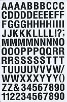(シャシャン)XIAXIN 防水 PVC製 アルファベット ナンバー ステッカー セット 耐候 耐水 ローマ字 数字 キャラクター 表札 スーツケース ネームプレート ロッカー 屋内外 兼用 TS-121 (ブラック)