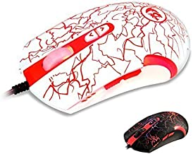 Redragon M701 Lavawolf 3500 DPI Laser Gaming Mouse for PC, 7 Programmable Buttons, Omron Micro Switches, (White) Color: M701-W, Model: DS-2443W, Electronics & Accessories Store