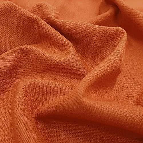 Bella - tela de algodón de lino natural para ropa y decoración - prelavada - por metro (Oxido)