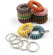 20 stks Mix Kleurrijke Elastische Pols Sleutelhanger, Plastic Lente Flexibele Spiraal Coil Stretchable, Polsband Armband, ...