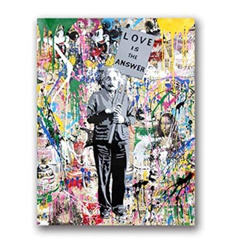 Street Art Leinwand Gemälde Graffiti Kunst Bilder Drucke Charlie Chaplin Ölgemälde Moderne Wandkunst Drucke Wohnzimmer Dekor 42x60 cm Ohne Rahmen
