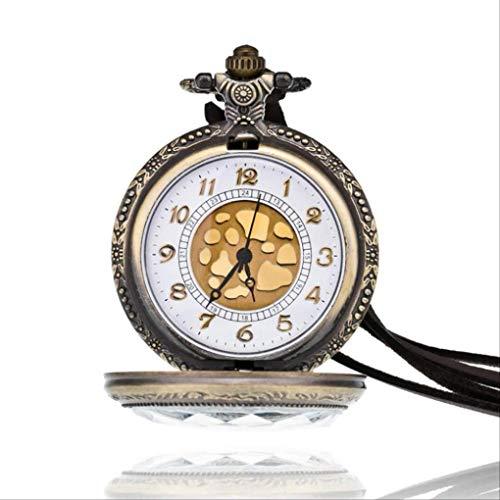 KUANDARGG árabe escala digital personalizado suéter collar reloj de bolsillo reloj moda retro transparente calado edificio reloj de bolsillo, número