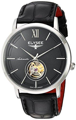 Elysee, 77010G, unisex, volwassene analoog automatisch horloge met lederen armband
