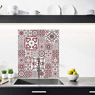 Crédence Aluminium Cuisine - 100 x 20 cm - Modèle BISKNIGHT - Crédence Alu 2 mm Adhésive - Double face - Fond de Hotte - P...
