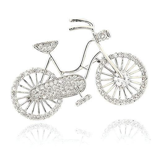 @Y.T Schmuck Mode Fahrrad Zirkon Brosche High-End-Damen kreative Fahrradliebhaber Kleidung Brosche