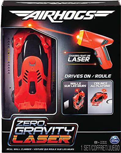Air Hogs Zero Gravity Laser, Laser-Guided Real Wall-Climbing Race Car, Red