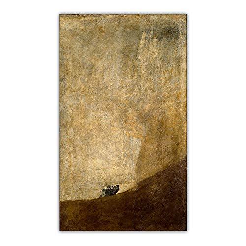 Cuadro De Francisco Goya 《Perro Medio Sumergido》 Arte En