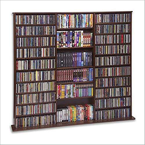 CD Rack - 1500 Veneer (Walnut) (63 3/4'H x 65 5/6'W x 9 1/2'D)