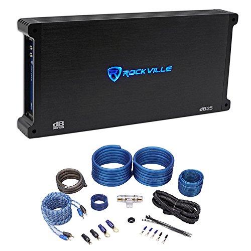 Rockville dB25 2800 Watt/700w CEA RMS 2 Channel Car Amplifier+Amp Kit Loud!!
