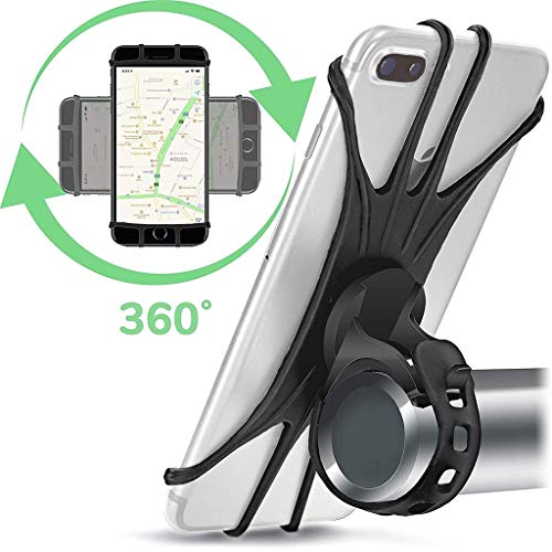 WDOPZMS Bike Phone Mount Holder Best Universal Handlebar Cradle for All Cell Phones & Bikes. Clamp Fits Road Motorcycle & Mountain Bicycle and Most Smartphones