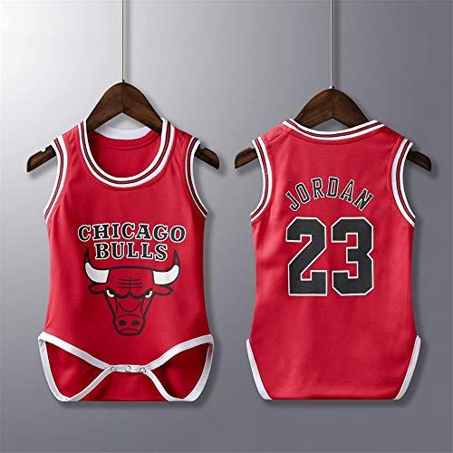 lkjhgfd Body De Mameluco para Bebés De Los Chicago Bulls 23# Michael Jordan Camisetas De Baloncesto Sueltas Sin Mangas para Niños Niñas De 6 A 30 Meses