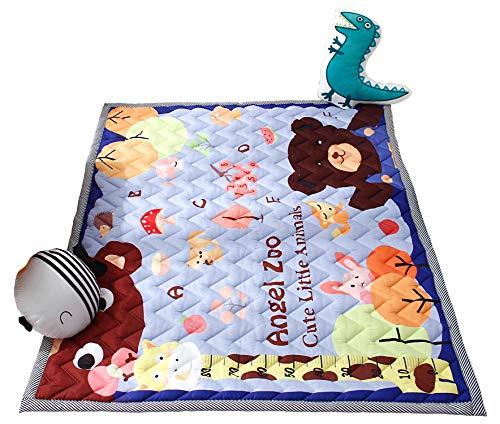 Zinsale Grande Addensare Baby Playmat cotone Palestra del pavimento Asilo nido Pad attività Tappeto strisciante (Baby Paradise)