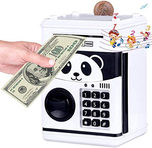Money Bank Musical ATM Savings Piggy Bank Machine with Code Lock for Kids Mini Electronic Panada product image