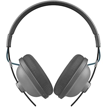 Panasonic Retro Bluetooth Wireless Headphone With Microphone, Deep Bass Enhancer, 24 Hours Playback - RP-HTX80B-H (Matte Steel)
