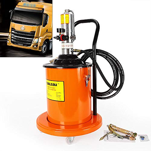 TUQI 5 Gallon Air Operated High Pressure Grease Pump + Pneumatic Universal Gun & Hose