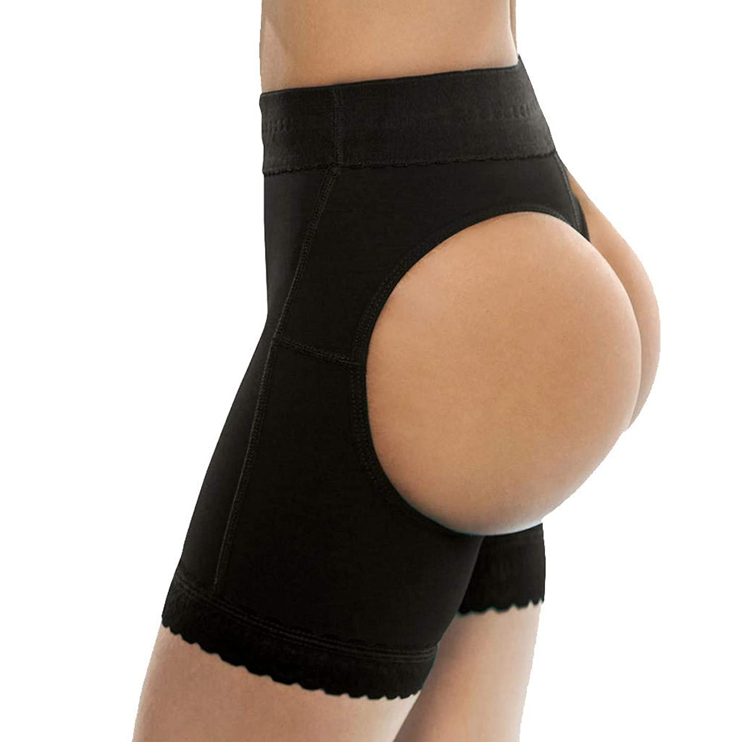 AmyDong Shapewear Shorts for Women Butt Lifter High Waist Tummy Control Panties Mid Thigh Slimmer Short