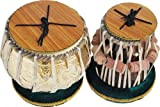 Musical Sheesham Holz handgefertigtes Designer Messing Tabla Set Gold Farbe