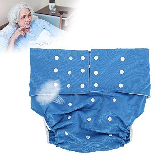 Yotown Adultos pañales de Tela, Ajustado pañal de pañal Reutilizable y Ropa Interior Protectora de Cuidado de incontinencia, Adecuado para Hombres Mujeres Adolescentes(Azul Oscuro)