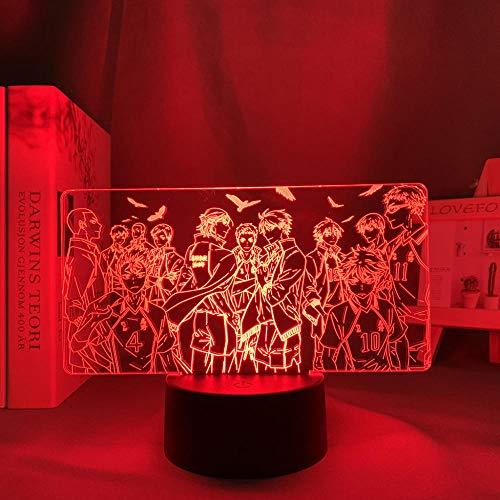 Luz nocturna LED 3D para dormitorio o decoración de niños