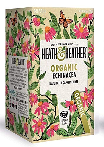Heath & Heather Infusión orgánica de equinácea naturalmente libre de cafeína - 1 x 20 bolsitas de té (20 gramos)