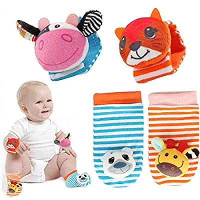 QQchickchicky Animated Animal Baby Soft Socks T...