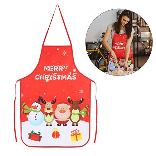 KATOOM Weihnachten Schürze Lustig Kochschürze Schneemann Weihnachtsmann Rentier Küchenschürze Rot Latzschürze für Weihnachtensparty Heiligabend Chef Damen Herren