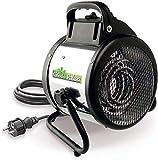 Bio Green Calefactor de Ventilador eléctrico Palma Manual, Plata/Negro, 2000W