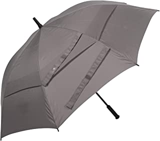 Procella Golf Umbrella Windproof Waterproof - 62 Inch Large Automatic Open Rain & Wind Resistant Vented Double Canopy - Perfect Golf-Sized Stick Umbrellas for Men and Women