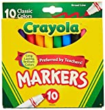 Crayola 758114552570 Broad Line Markers, Classic Colors 10 Each (Pack of 24), Case of 24 no, Count