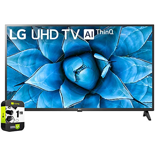 New LG 50UN7300PUF 50 inch UHD 4K HDR AI Smart TV 2020 Model Bundle with 1 Year Extended Protection Plan.