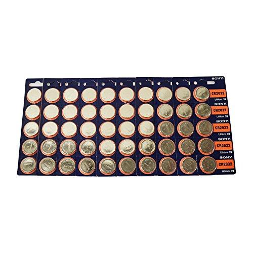 CR2032 Sony Lithium 3V Battery 50 Pcs