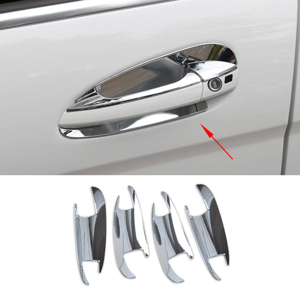 15-17 Chevy Tahoe+Suburban Chrome 4 Door Handle without Smart button hole Cover