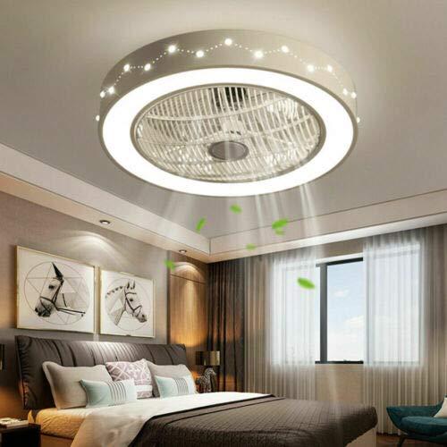 Deckenventilator mit Beleuchtung, HaroldDol LED Fan Deckenleuchte Einstellbare 3 Windgeschwindigkeit Dimmbar mit Fernbedienung, 32W Moderne LED-Lampe für Schlafzimmer Wohnzimmer Esszimmer