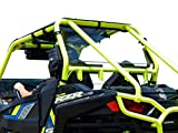 SuperATV Heavy Duty Rear Windshield for 2015-2020 Polaris RZR 900 / S 900/900 XC / 900 Trail   1/4' Non-Scratch Resistant Thick Polycarbonate 250 Times Stronger Than Glass   Made in USA!