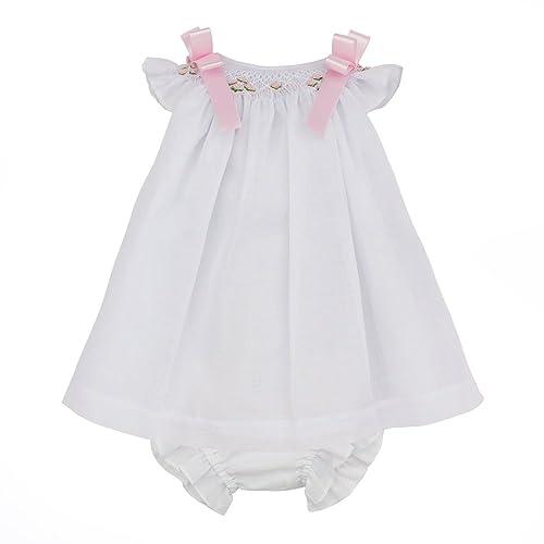 c627b6349bf Marakitas Baby   Toddler Girl Smocked Dress – Angel Sleeve Cotton- Handmade  Embroidery