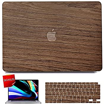 iPAPA Compatible with MacBook Air 13 inch Case 2020 2019 2018 Release A2337 M1 A2179 A1932 Touch ID Wood Protective Plastic Hard Shell Case + Keyboard Cover + Screen Protector MacBook Air 2020 Case