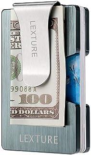 Aluminum Wallet RFID Credit Card Holder Wallet with Detachable Metal Money Clip (Dark Slate Grey)
