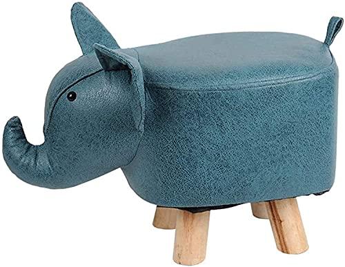 Reposapiés de animales otomano creativo dibujos animados taburete niños juguete antideslizante cambio Zapatos Banco para niños adultos muebles (Color: Elefante, Tamaño: 28×26×50cm)