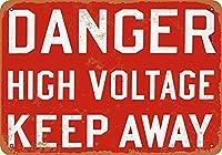 危険高電圧キープアウェイ2ヴィンテージルックメタルサイン家の装飾20x30cm
