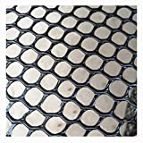 XXN Black Plastic Poultry Net,Plastic Poultry Hex Garden Fence Netting Snow Garden Plants Crop Soil Protection Cat Dog Obstacles Stop Wildlife Safety Netting Poultry Breeding Chicken Silk Nets Black